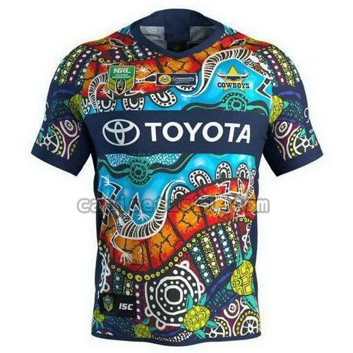 north queensland cowboys camisetas rugby de futbol 17-18 azul hombre