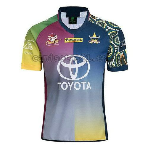 north queensland cowboys camisetas rugby de futbol 18-19 azul hombre