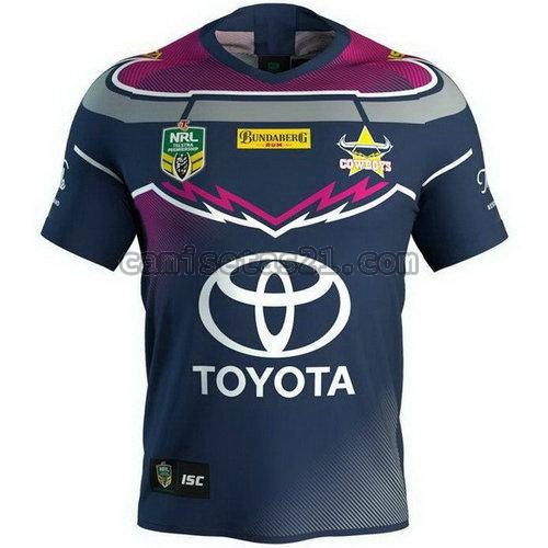 north queensland cowboys camisetas rugby de futbol 2018 azul hombre