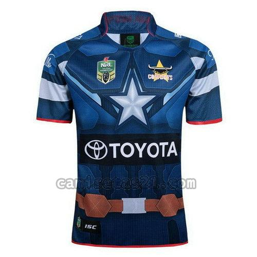north queensland cowboys camisetas rugby de futbol azul hombre