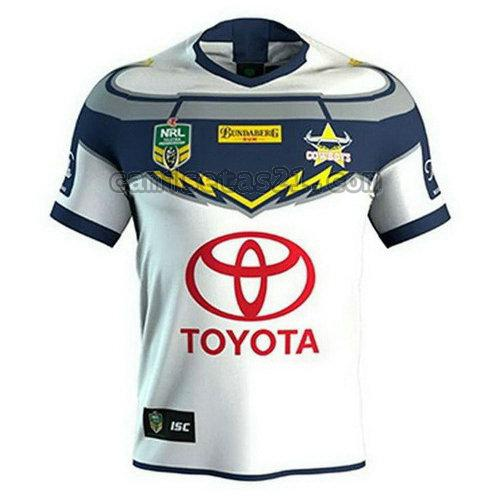 north queensland cowboys segunda camisetas rugby de futbol 2018 blanco hombre