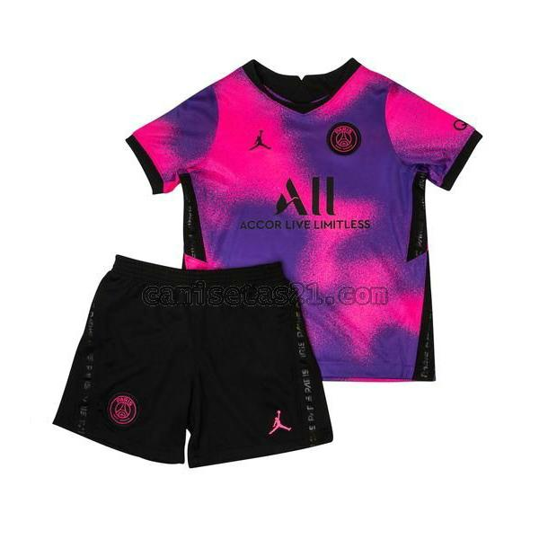 paris saint germain fourth camisetas de futbol 2020 2021 púrpura niño