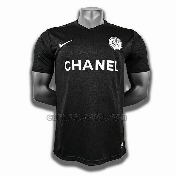 paris saint germain training player camisetas de futbol negro hombre